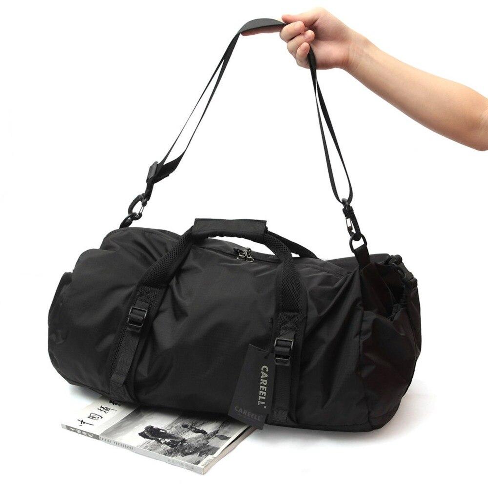 Waterproof Travel Bag Men Women Shoulder Bags Brand Fashion Multi-purpose Men's Handbag Foldable Duffle Bags outdoor washed canvas sport gym bags multi function handbag single shoulder bag men travel independent shoes duffle bags