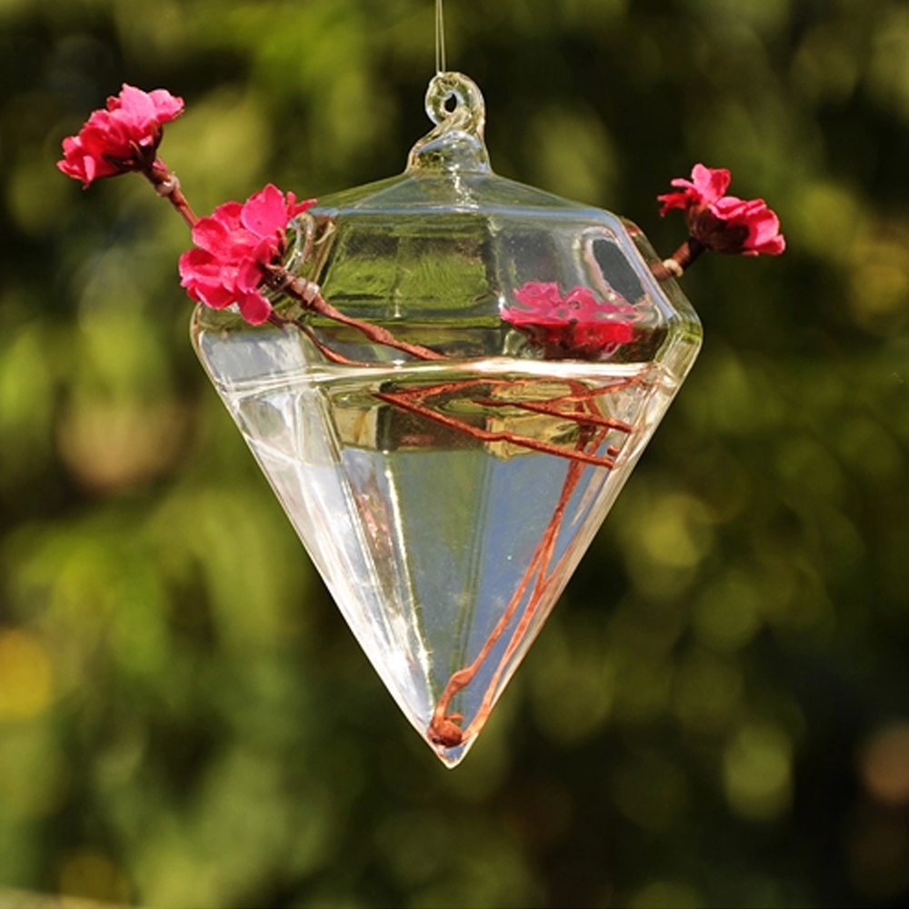 Aliexpress buy cute fresh design hanging vase diamond shaped aliexpress buy cute fresh design hanging vase diamond shaped crystal flower planter terrarium container hydroponic vase wedding decoration from reviewsmspy