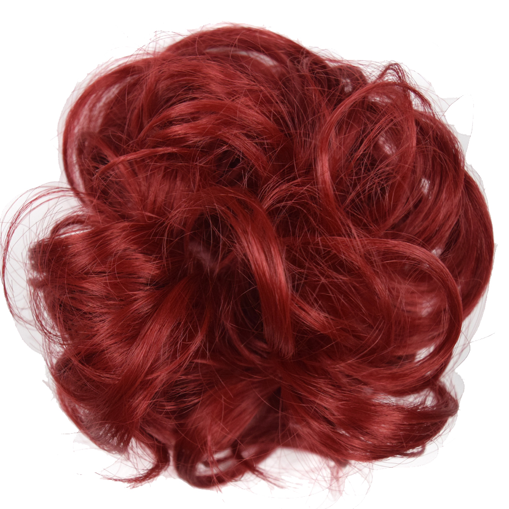 TOPREETY Curly Chignon Hair-Extensions Donut-Hairpieces Rubber-Band Updo Synthetic-Hair