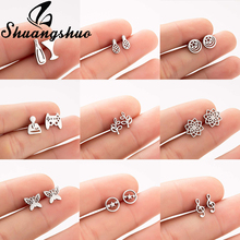 Shuangshuo Wine Glass Bottle Stud Earrings Earings For Women brincos Stainless Steel oorbellen pendientes mujer orecchini все цены