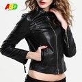 S-xxxl tamaño nuevo estilo chaqueta de cuero cortos mujeres marea Oblicua Motocicleta cremallera en cuir veste femme cjzwt000013