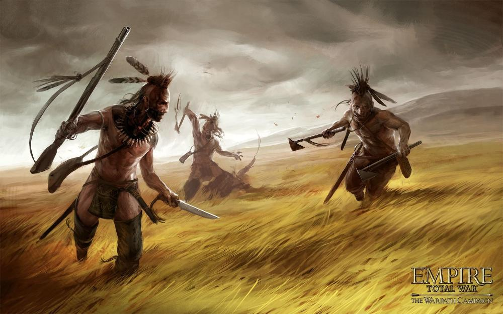 Living room home wall decoration fabric poster Empire total war the warpath campaign artwork attacking indians image