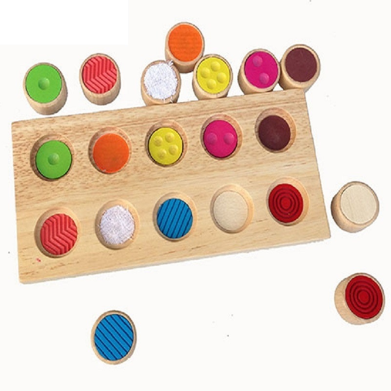 Montessori Baby Toys Color Matching Buckle Set With Tray Practical Montessori Material Educational Early Learning Toys Mg2764h Home