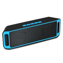 Fashion square altavoz Bluetooth Radio FM TF USB de doble woofer Bass 3D puissant enceinte Altavoz Estéreo bluetooth portable caliente