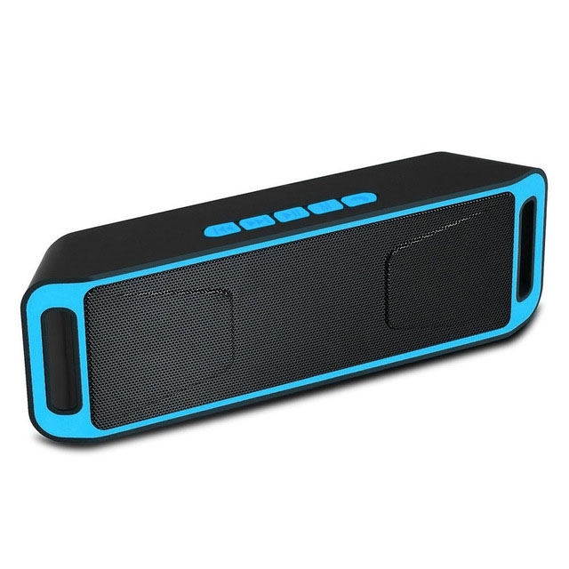imágenes para Fashion square altavoz Bluetooth Radio FM TF USB de doble woofer Bass 3D puissant enceinte Altavoz Estéreo bluetooth portable caliente