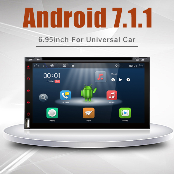 bosion 4 Core 2 din Android 7.1 2G RAM 16GB ROM Support 4G LTE SIM Network Car GPS 2 din Universal car DVD player
