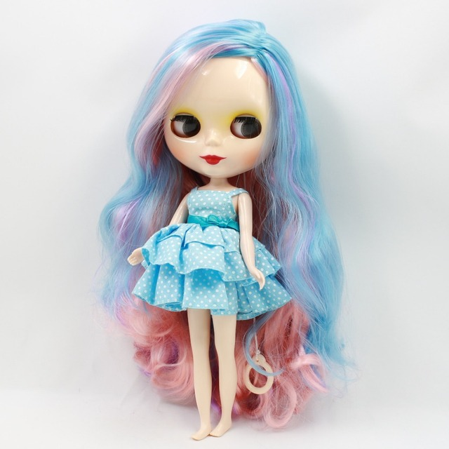 Factory Neo Blythe Doll Side Part Colorful Hair Regular Body 30cm