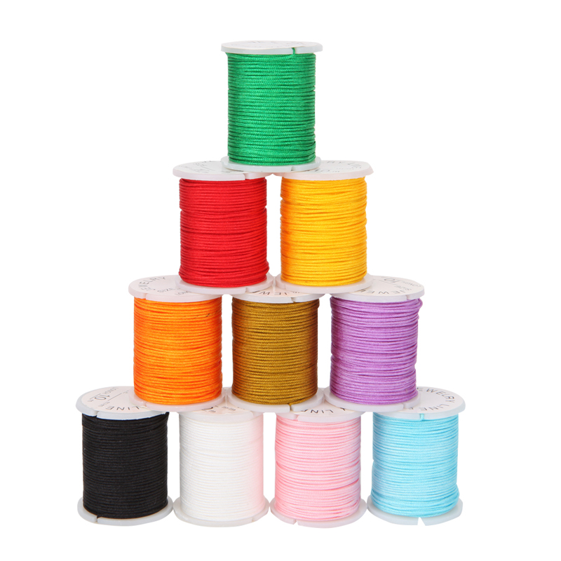 10 Rolls Nylon Beading Thread Cord For DIY Jewellery Making Mixed Colors 0.8mm