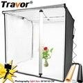 Travor светильник 80*80 см портативный софтбокс фото светодиодный светильник коробка палатка с 3 цветами фон для освещение для фотосъемки в студ...