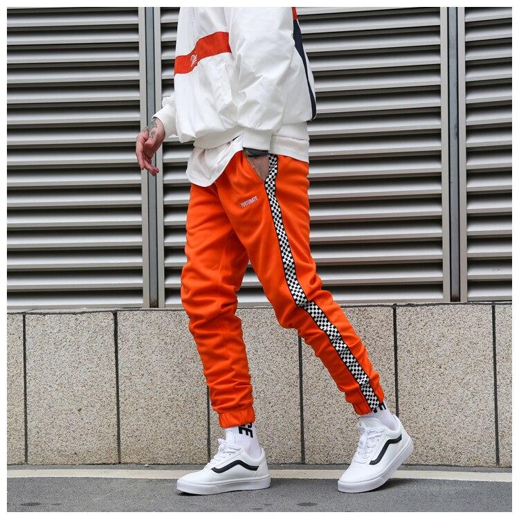 ac198ac1 € 23.58 |Letras bordadas a cuadros Vintage pantalones de pista 2019 nuevos  pantalones de chándal de hombre y mujer pantalones de chándal de ...