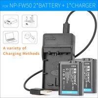 2x NP FW50 Battery Camera NPFW50 Charger Batteries FOR SONY NEX 7 NEX 6 NEX 5