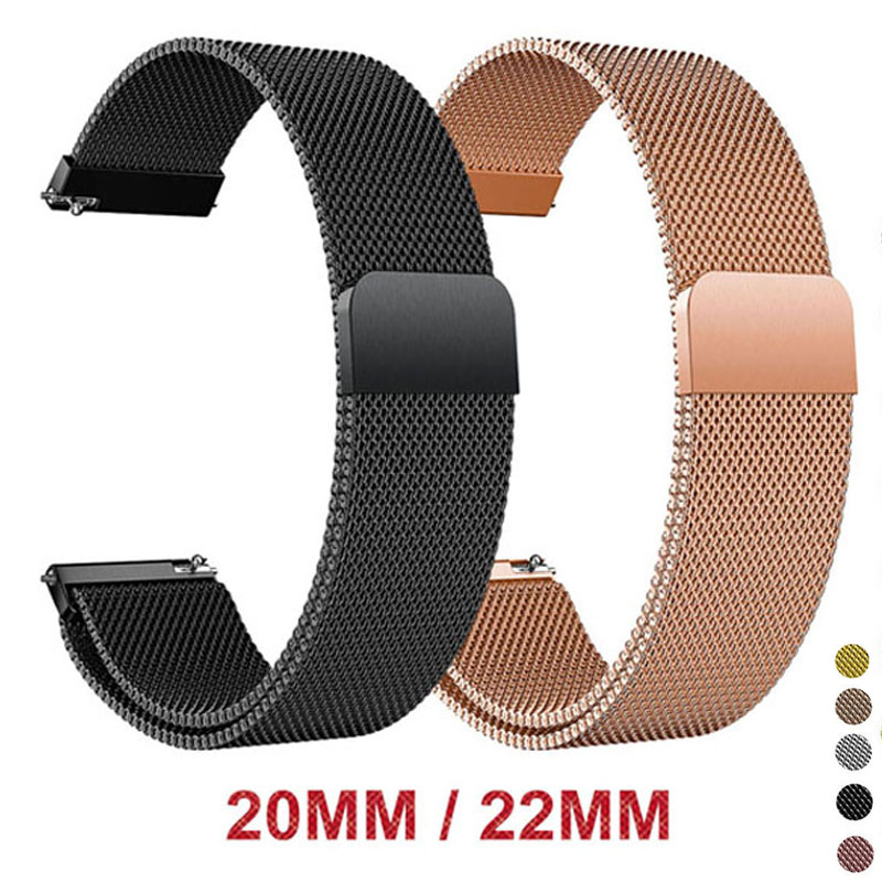 Milanese Loop For Samsung Gear S3 Frontier For Samsung Galaxy Watch 46MM 42MM Active Watch Band 20mm 22mm Watch Strap Bracelet