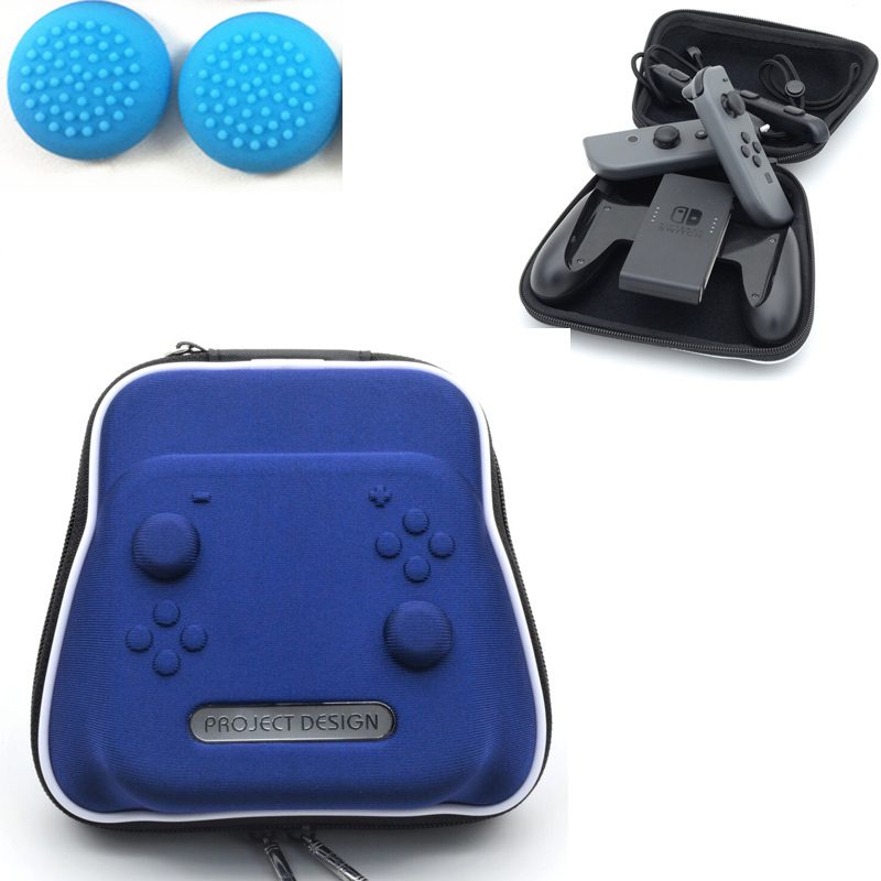 Blue Switch Joy-con Travel Storage Carring Case Pouch Bag Hard Pack for Nintendo Nintend NS Console Shockproof