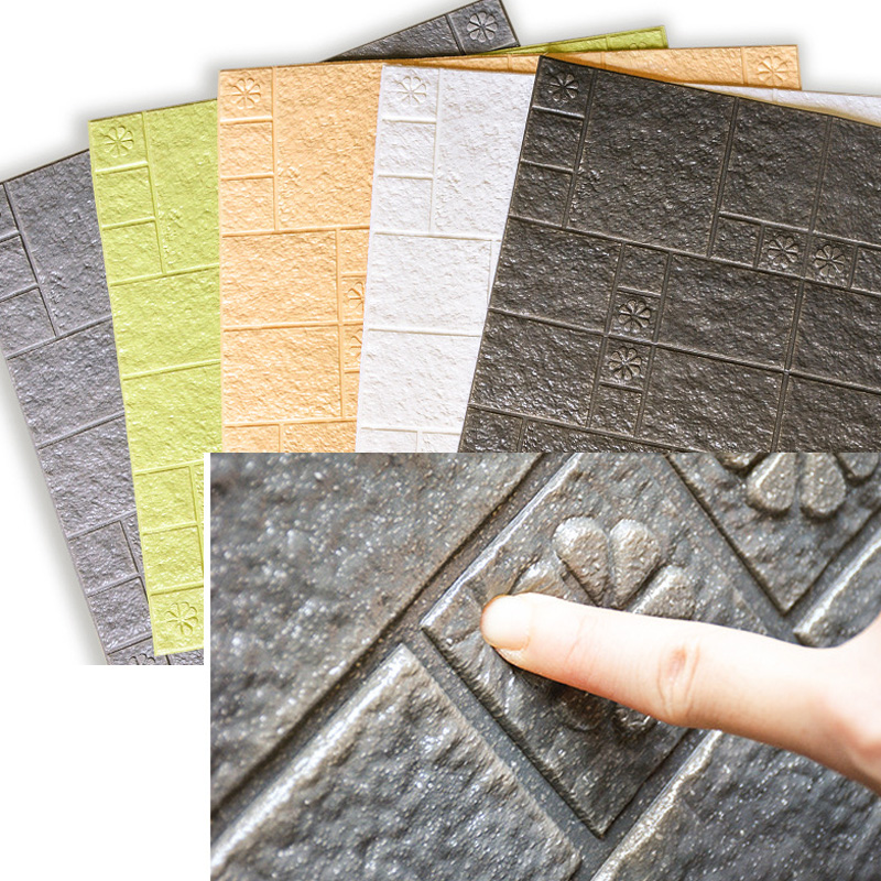 Vinyl Brick Bedroom Wall Sticker 3d Bedroom Minimalist Decor Acoustic Foam Insulation Wall Decal