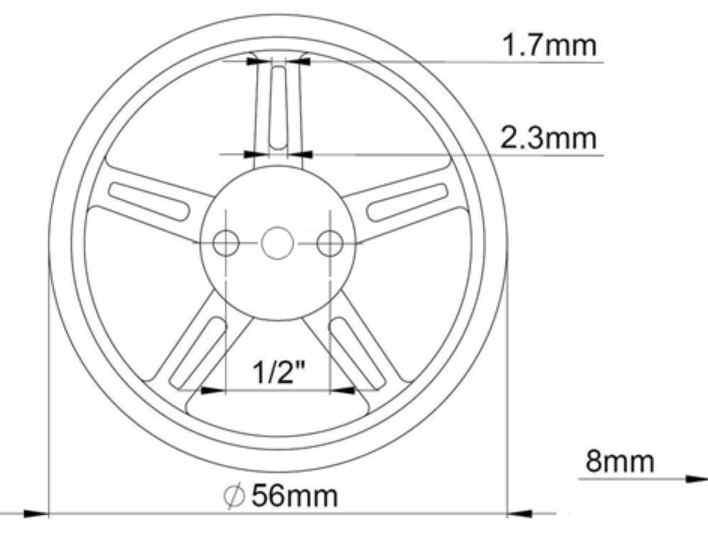 ドーマンrc 10ピース/ロット9グラム360度連続回転サーボ使用ホイール
