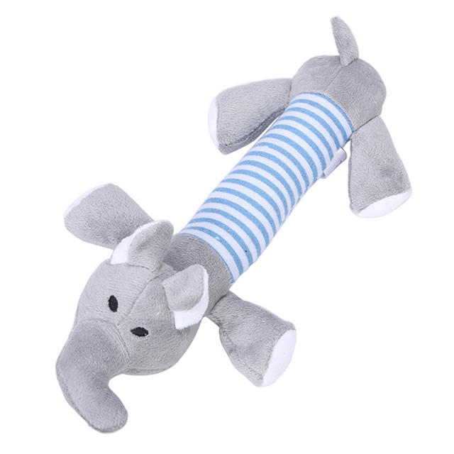 New Dog Toys Pet Puppy Chew Squeaker Squeaky Plush Sound Duck Pig & Elephant Toys 3 Designs FREE SHIPPING