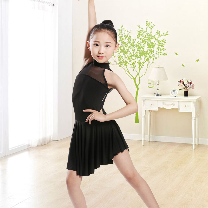 Black Sexy Latin Dance Dress For Girls Ballroom Dance Salsa Clothes Fashion Rumba Dresses Dancewear Stage Performance Costumes