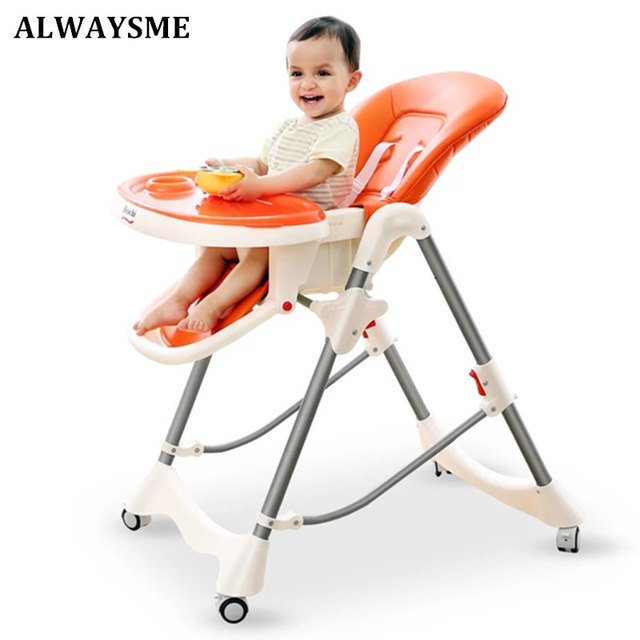 Booster Chairs For Kids Unusual Accent Chair Alwaysme Portable Folding Baby Highchairs Seat Dinner Table Seats Feeding Adjustable