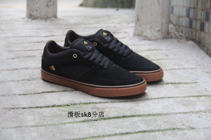 ФОТО Size 10.5/11.5 Emerica Hsu Low Vulc Boys Black Anti-Fur Low Top Sports Shoes Leisure Hard-Wearing Footwear