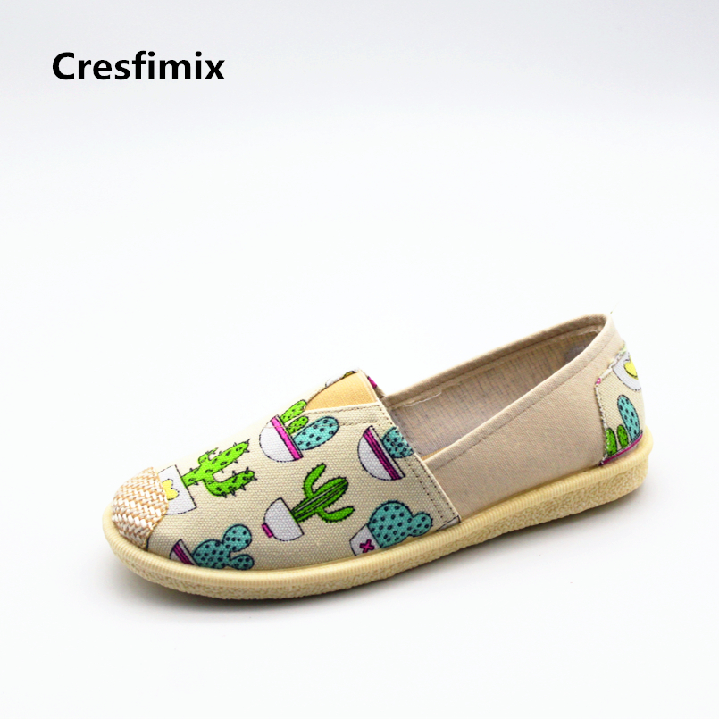 Cresfimix sapatos femininas women cute high quality slip on flat shoes female cool comfortable spring flats lady comfy shoes женские блузки и рубашки cool fashion 2015 roupas blusas femininas tcb0024