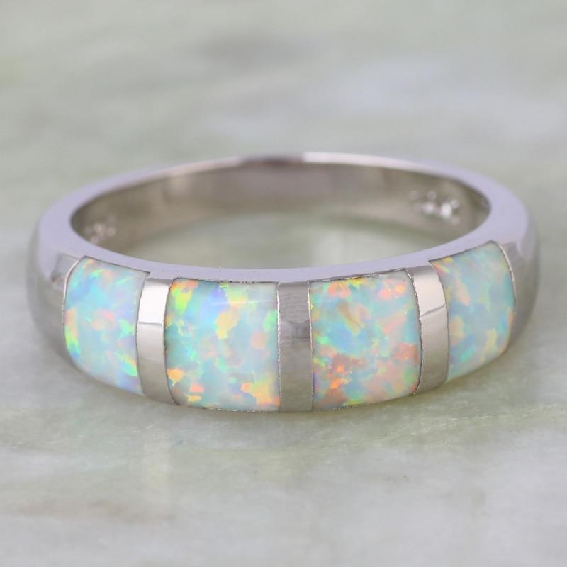 """Madingi """"Opalo"""" žiedai Papuošalai iš moteriško žiedo - Mados papuošalai - Nuotrauka 2"""