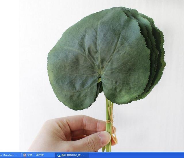 Vaak 100 stks Simulatie leaf vorm ronde galaxy blad decoratieve  #IH78