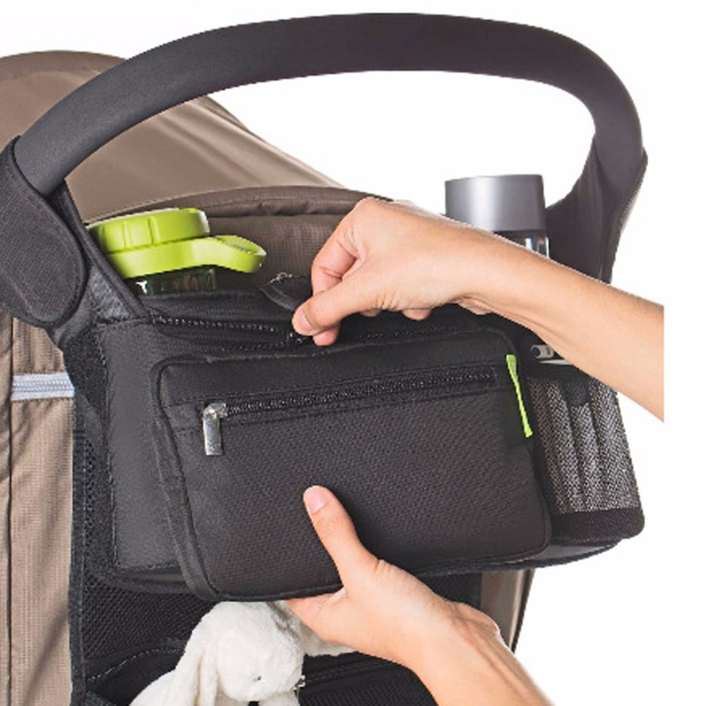 Nosii Baby Stroller Feeding Bottle Diaper Snack Storage Hanging Bag Organizer Holder