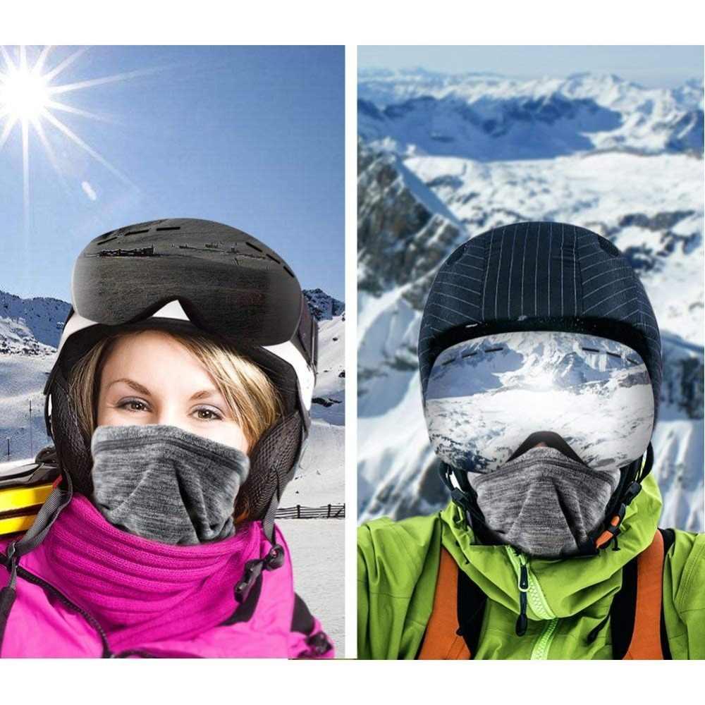Катионная флисовая нарукавная маска для лица теплая термозащита для головы Тактический катание на лыжах Спортивная Бандана Балаклава шарф для мужчин и женщин