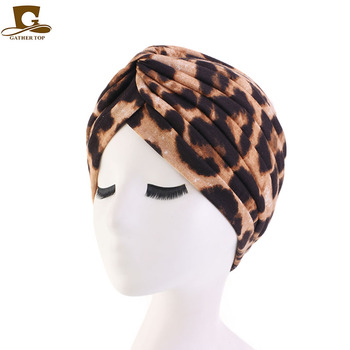 New women soft Floral Print Cotton Women Turban Fashion Banadans Cancer Headwrap Chemo Cap Head Wrap Hair Accessories