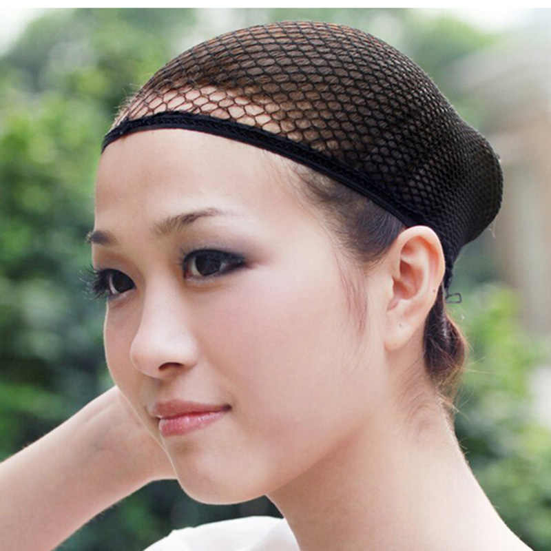 Adjustabe Zwarte Mode Elastische Stretchable Hair Braider Haar Snood Netten Mesh Pruik Cap Haar Styling Tools