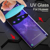 Protecteur de Sceen de colle UV pour Huawei Honor 8X verre trempé UV liquide Mate 20 Pro P20 Mate 10 Pro Honor Note 10 Magic 2 Nova 3 3i
