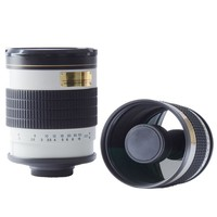 500mm f6.3 T Mount MIRROR TELEPHOTO LENS white for Canon nikon sony pentax fuji olympus m43 nex mirrorless camera