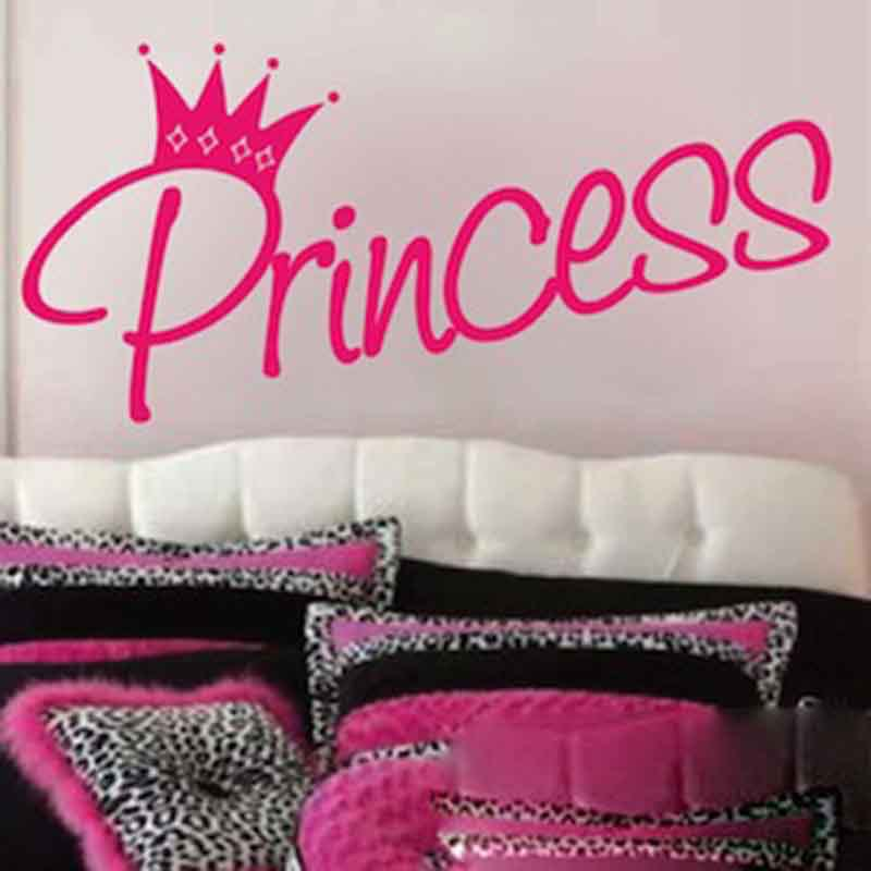 Princess And Crown Kids Cute Say Quote Word Lettering