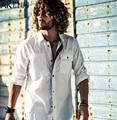 AK CLUB Brand Shirt Ocean Casual Shirt Men New Long Sleeve Slim Fit White Shirt Men Brand Clothing Casual Men Shirt Male 1502063