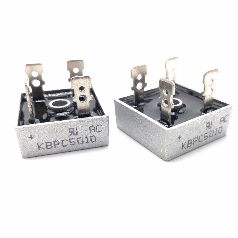 2PCS/LOT KBPC5010 50A 1000V Diode Bridge Rectifier Kbpc5010 5010 Power Rectifier