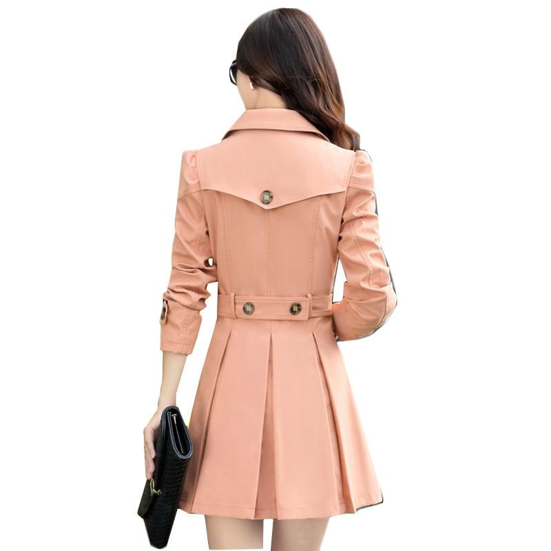 Khaki Yagenz Haute Femmes Grande Breasted Slim Manteau Qualité black Survêtement Double pink Taille Automne K463 vent Femelle Solide Coupe Blue 2017 Tranchée Couleur water rHxFrT6