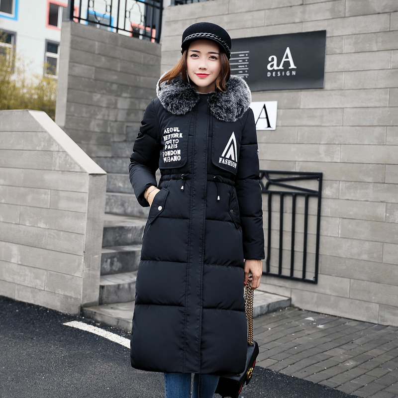 Women Winter Coat Jacket Thick Long Women Parkas 2017 Faux Fox Fur Hooded Female Outwear Coat Down Cotton Padded Snow Wear BL04 2017 new solid winter jacket women hooded coat cotton padded parkas long warm sweat girls cold outwear female down jacket m 3xl