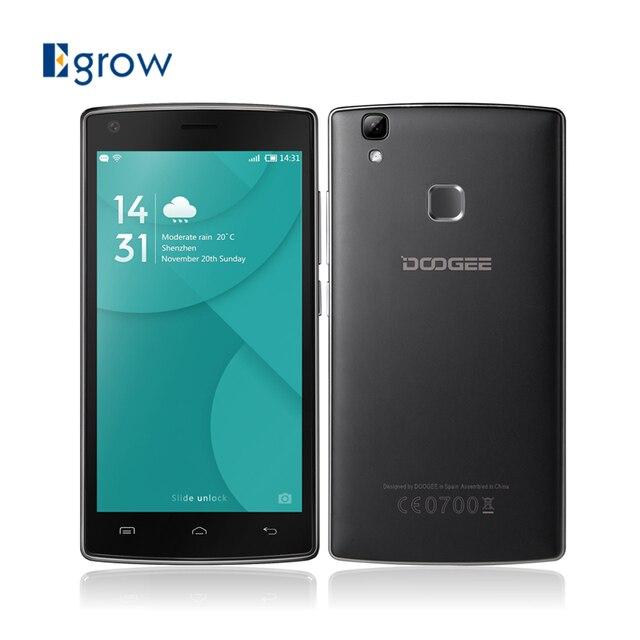 Original DOOGEE X5 Max Pro MTK6737 Quad Core 5.0 Inch Android 6.0 Mobile Phone 4000mAh 8.0 MP Camera Fingerprint ID Smartphone