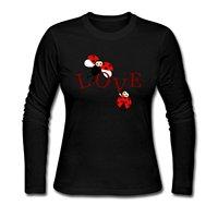 Wiecznej Miłości Między Biedronki Drukuj Marka Moda bawełniana Koszulka Kobiet Z Długim Rękawem T shirty Dla Dorosłych t shirty Odzież Marki