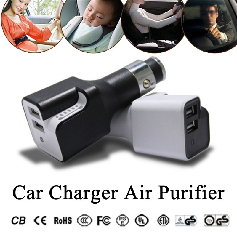 Car USB Charger Air Purifier Oxygen Generator Cleaner Air Fresh Ionizer Negative Ion Ionizer Oxygen Generator Cleaner Home