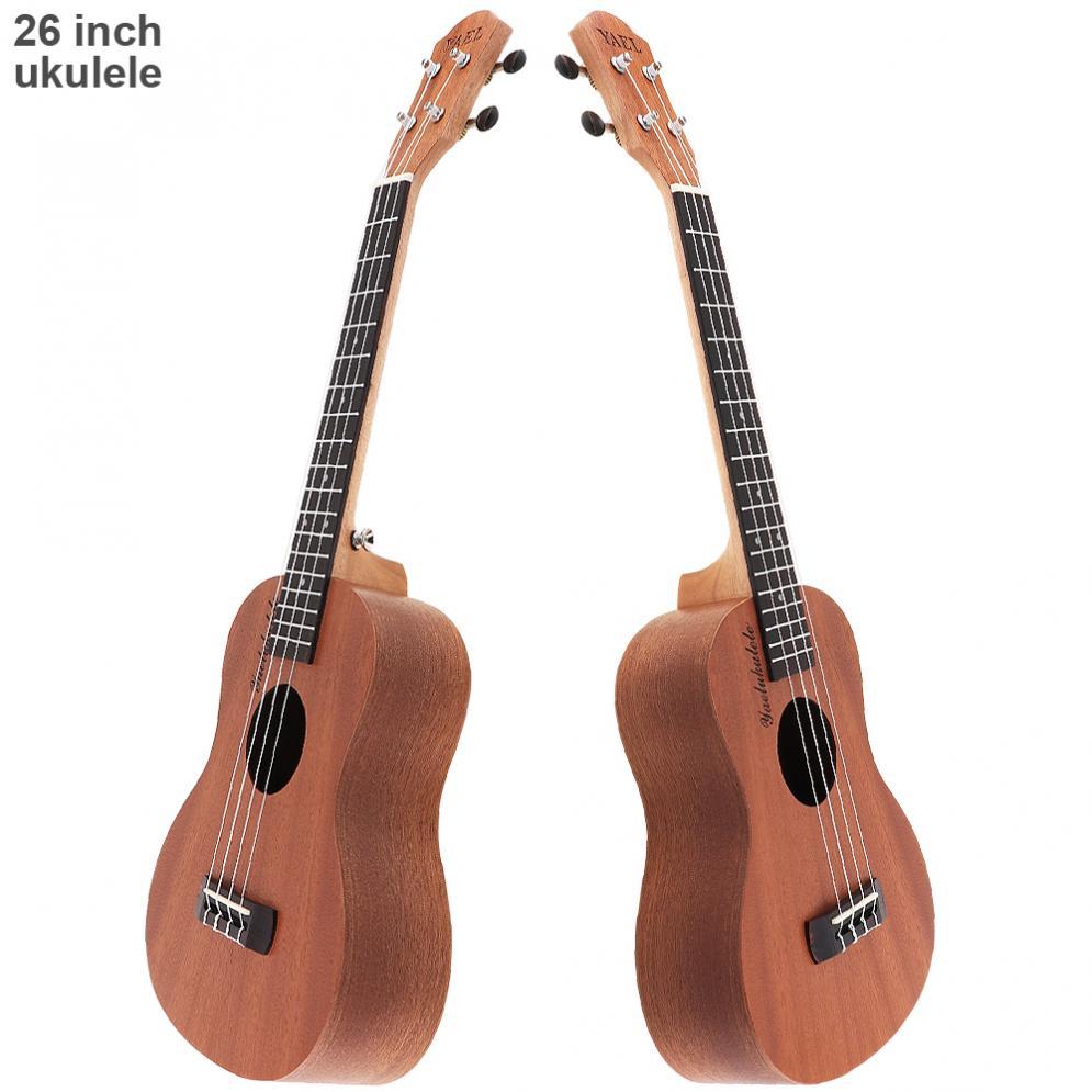 Sale 26 Inch 18 Fret Tenor Ukulele Acoustic Guitar Sapele Wood Ukelele Hawaii 4 String Guitar zebra professional 24 inch sapele black concert ukulele with rosewood fingerboard for beginner 4 stringed ukulele instrument