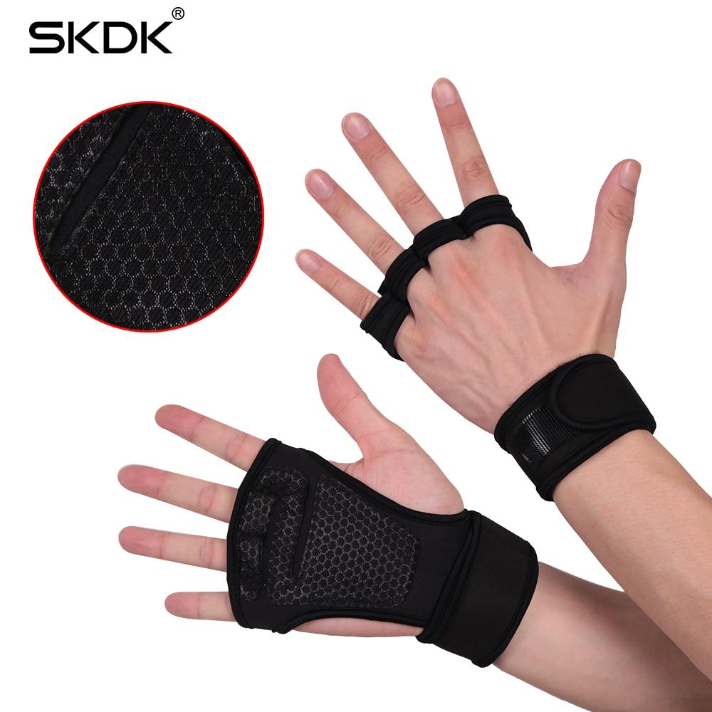 SKDK Poids De Levage Gants D'entraînement Fitness Sports Body Building Gymnastique Grips Gym Main Palm Protecteur Gants Support de Poignet