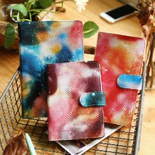 Students creative sky laptop buckles thick leather personal diary business notepad South Korea stationery