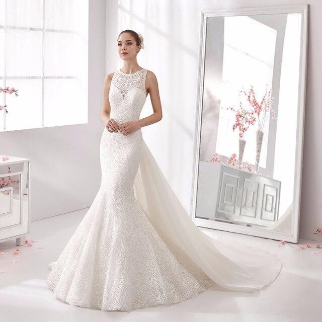 Elegant Wedding Dresses 2017 : Real wedding dress elegant cap sleeve o neck dresses