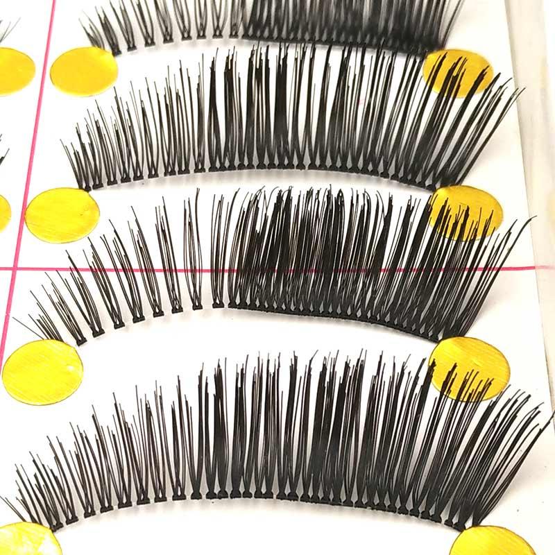 10 Pairs Natural Handmade Fake Lashes Makeup Tips Eyelash Extensions Beauty Tools Black False Eyelashes Make Up 302