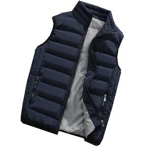 Image 2 - Gilet de marque pour hommes, veste chaude sans manches pour hommes, gilet chaud sans manches pour hommes, grande taille 5XL 2020, printemps, automne manteaux décontractés