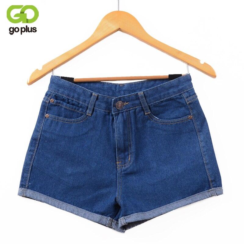 GOPLUS 2018 Neue Heiße frauen Jeans Hohe Taille Stretch Denim Shorts Schlank Jeans Feminino Marke Sommer Frühling Plus Größe 26-32 C2296