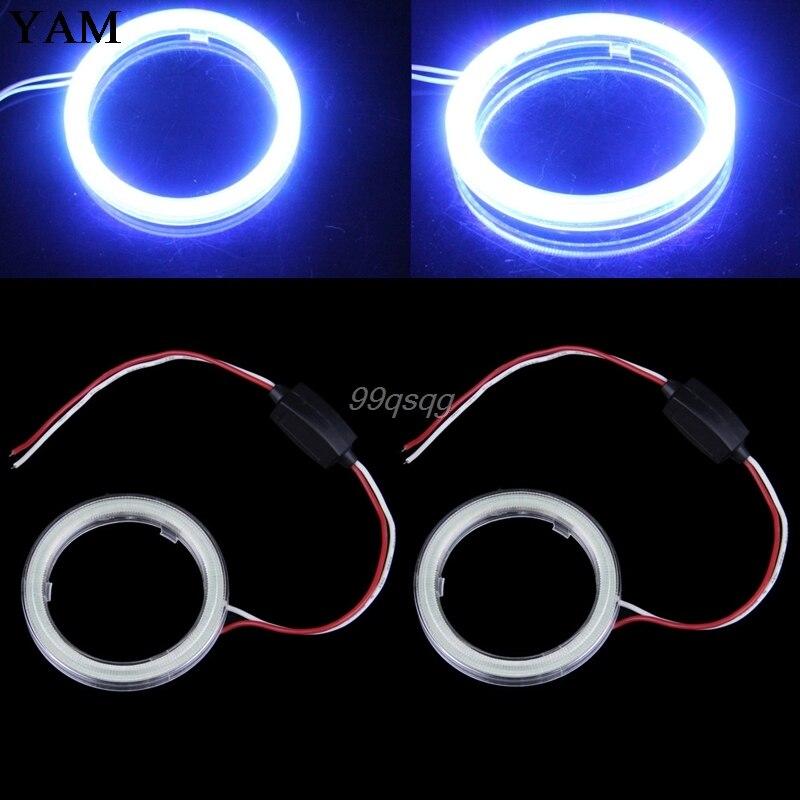 2 шт х 70мм ПОЧАТКА глаза Ангела гало кольцо автомобиль светодиодные фары DRL 12 В постоянного тока падение доставка