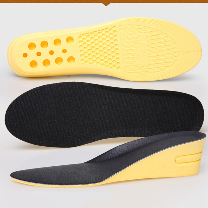 1 Pair Women Men Height Increase Insoles Shock Absorption Anti-slip Arch Support New