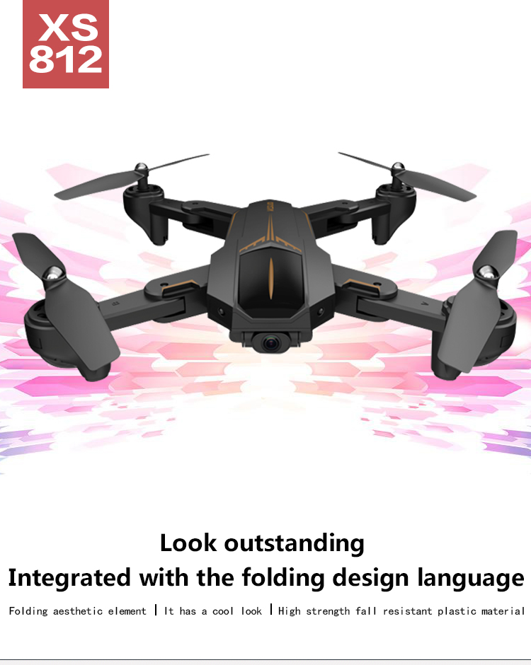 VISUO XS812 GPS RC Drone with 2MP/5MP HD Camera 5G WIFI FPV Altitude Hold One Key Return RC Quadcopter Helicopter VS X12 XS809S 2